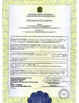 2ª Via de Certidão de Casamento Atualizada